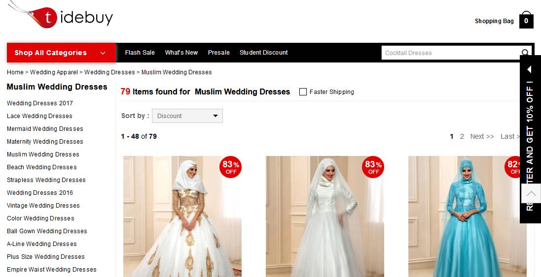 Muslim Wedding Dresses at Tidebuy