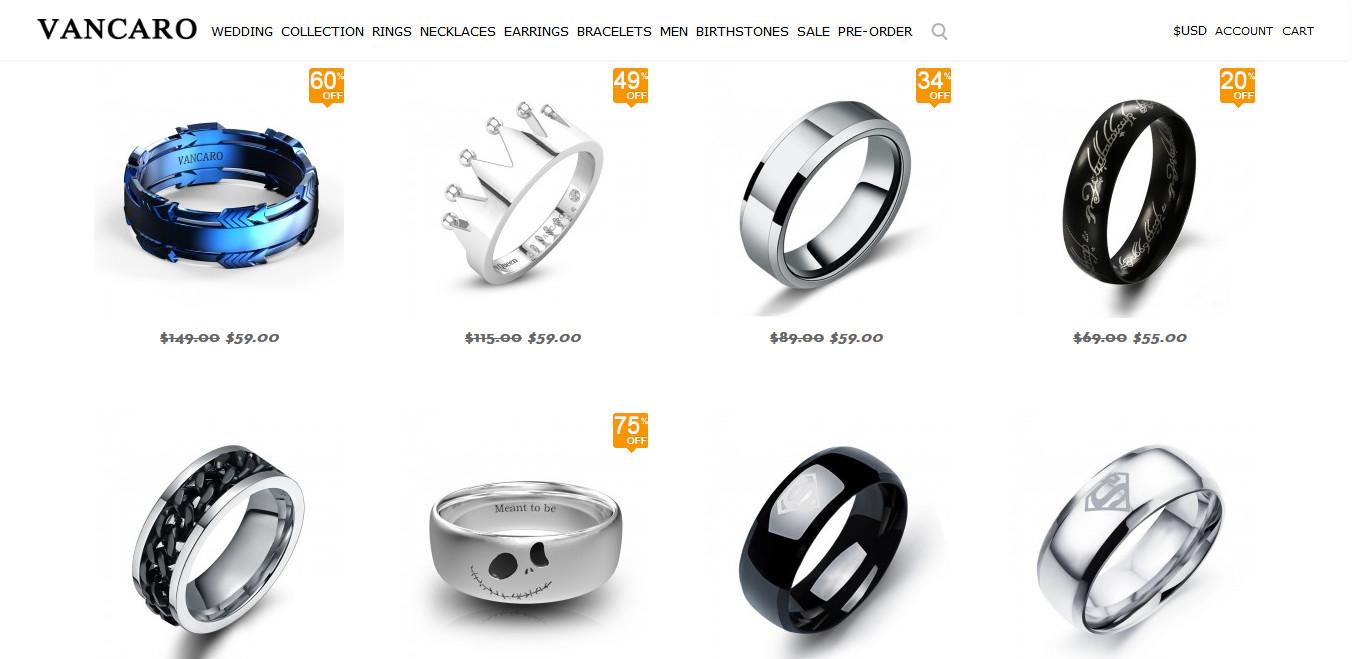 Vancaro Men's Rings